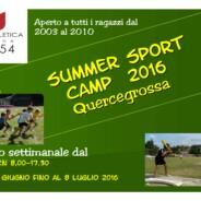 Al via i SUMMER SPORT CAMP della Montepaschi Uisp Atletica Siena!