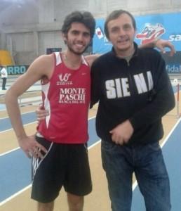 L'altista Matteo Baldi e il tecnico Stefano Giardi