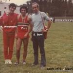 da sx: Giovannetti, Frati e Burri in Bulgaria nel 1972