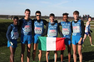 La squadra U23 a Samorin - foto Giancarlo Colombo/FIDAL