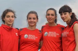 La 4x100m femminile - Foto Andrea Bruschettini