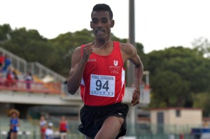Yohanes Chiappinelli in maglia Uisp Atletica Siena ai CdS 2019