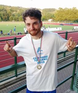 Alberto Menicori Campione Toscano U23 Salto Triplo - Camp.Toscani 2019