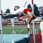 Fabrizio Finetti, impegnato nel salto in alto - foto Mauro Guerrini