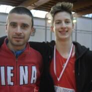 Gli allievi Niccolò Ghinassi e Adriano Finetti primi lampi stagionali per la Montepaschi Uisp Atletica Siena