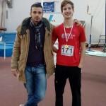 Giulio De Michele, tecnico, con l'allievo Adriano Finetti