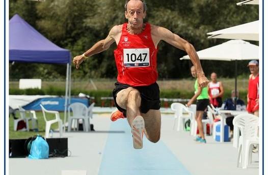 Fabrizio Finetti primato master M60 nel salto triplo
